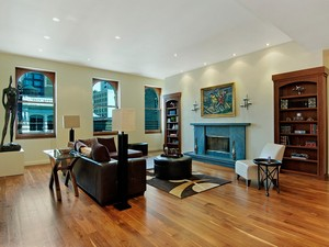 NYC Penthouse Livingroom After Staging
