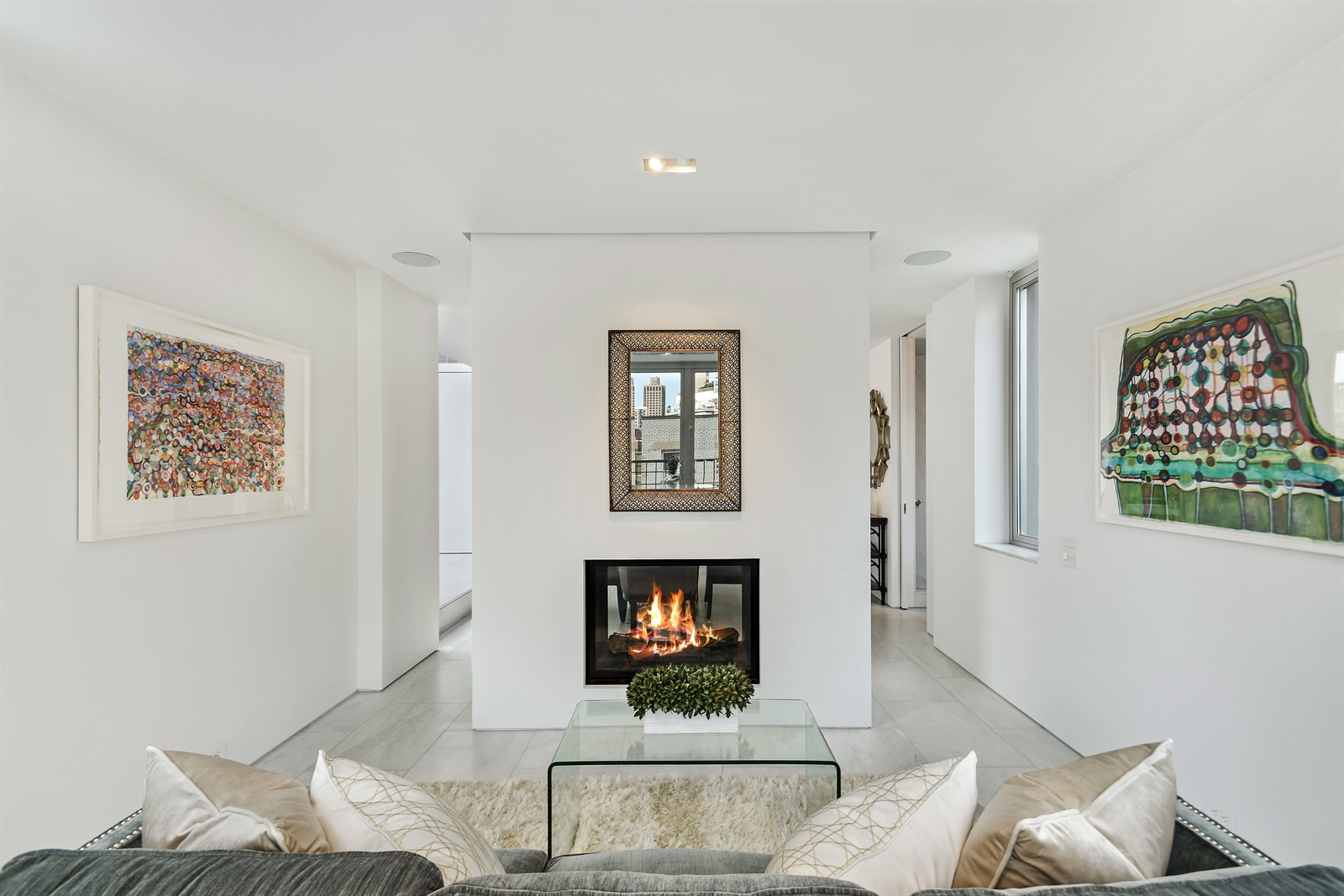 Upper Eastside staged Penthouse Living Room